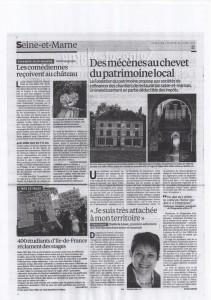Paru dans Le Parisien du 25 octobre 2013